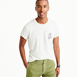 Wallace & Barnes short-sleeve anchor T-shirt in circular knitted jersey