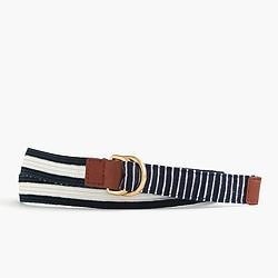 Striped woven belt
