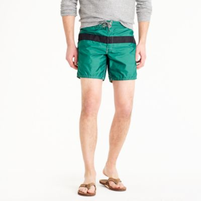 Birdwell® for J.Crew board short in dark green