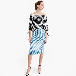 Collection striped sequin skirt