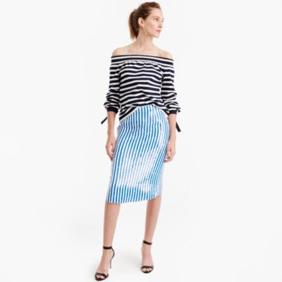 Collection striped sequin skirt : Women j.crew collection | J.Crew