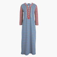 Striped lace-up dress - SAMMIE STRIPE BALTIC RO