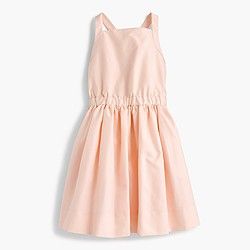 Pre-order Girls' silk bow-back dress