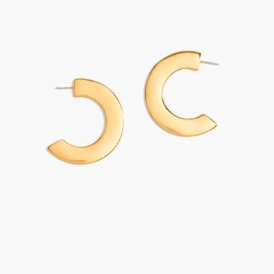 Disc hoop earrings