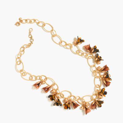 Magnolia link necklace