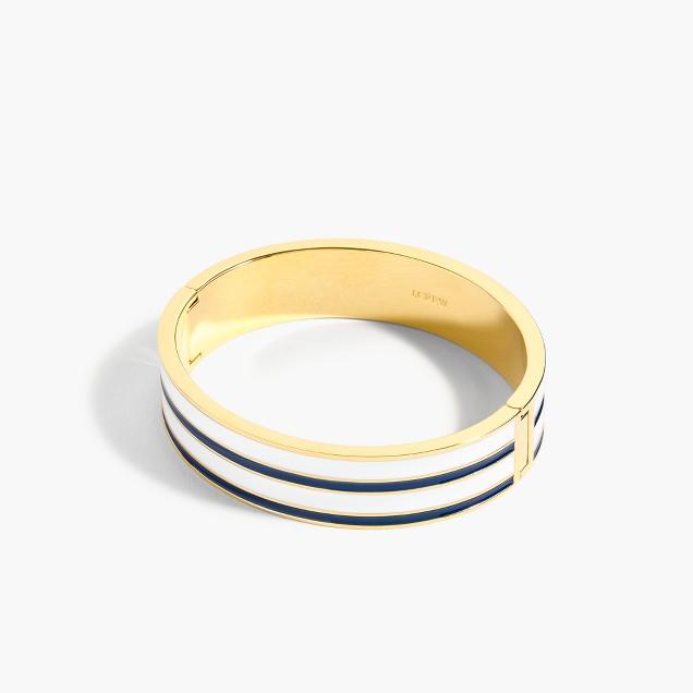 Striped clamp bracelet