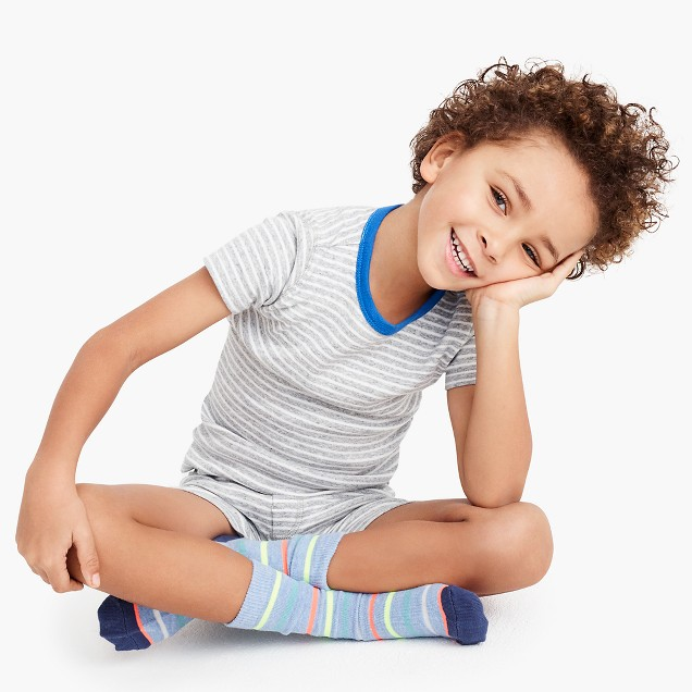 Kids' pajama set in stripes