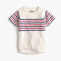 Boys' vintage chest-stripe T-shirt