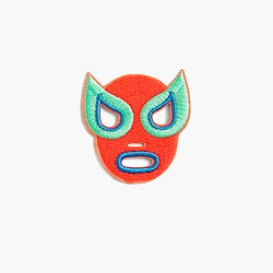 Kids' lucha libre iron-on critter patch
