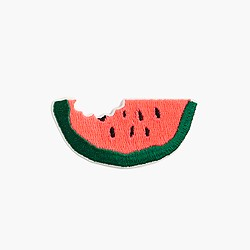 Kids' watermelon iron-on critter patch