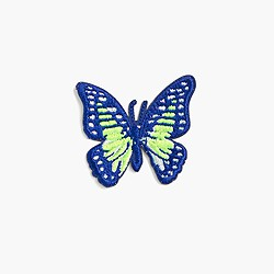 Kids' butterfly iron-on critter patch