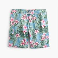 """9"""" stretch board short in jungle floral"""