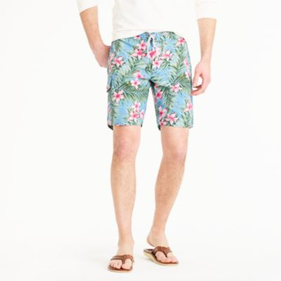 "9"" stretch board short in jungle floral"