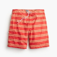 "9"" board short in red stripe"