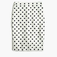 Pencil skirt in polka dot textured tweed