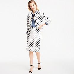 Petite pencil skirt in polka dot textured tweed