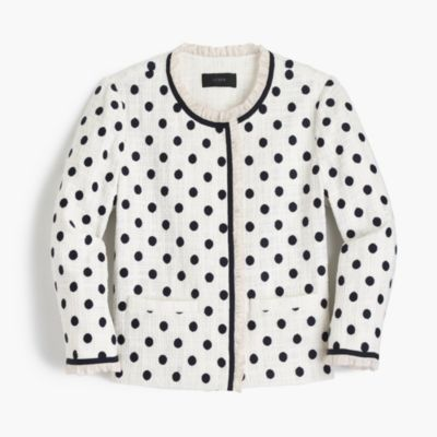 Petite jacket in polka dot textured tweed