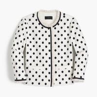 Jacket in polka dot textured tweed