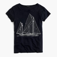 Sailboat blueprint T-shirt
