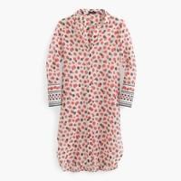 Beach shirt in berry print