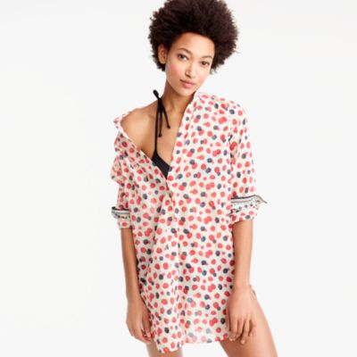 Beach shirt in berry print