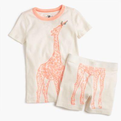 Girls' pajama set in giraffe print