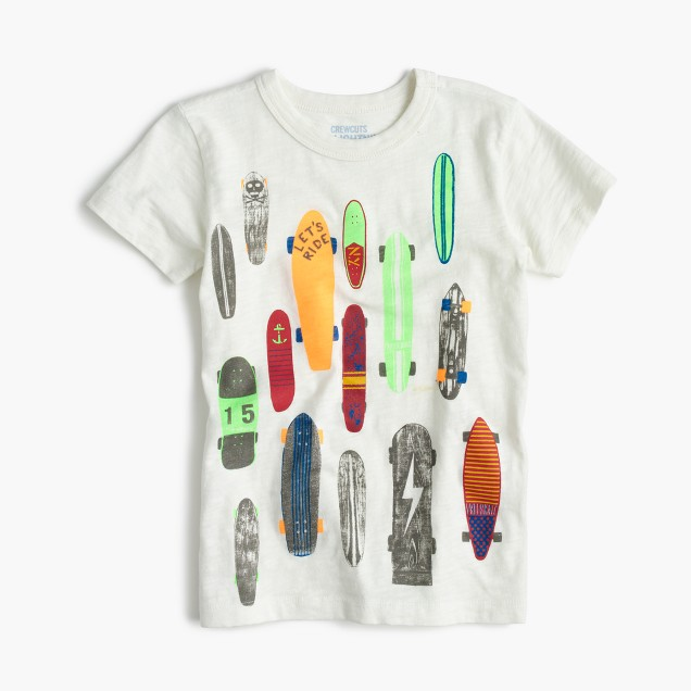 Boys' skateboard T-shirt