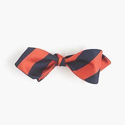 Silk bow tie in repp stripe