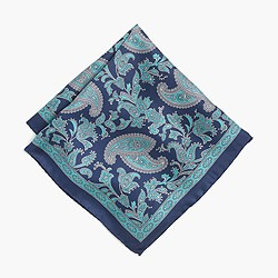 Silk pocket square in paisley