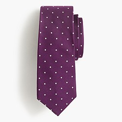 Silk tie in dot