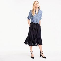 Petite clip-dot tiered skirt