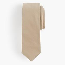 Cotton tie in khaki