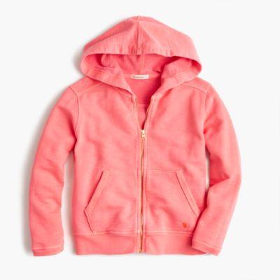 Girls' garment-dyed hoodie