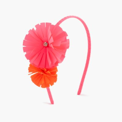 Girls' double flower headband
