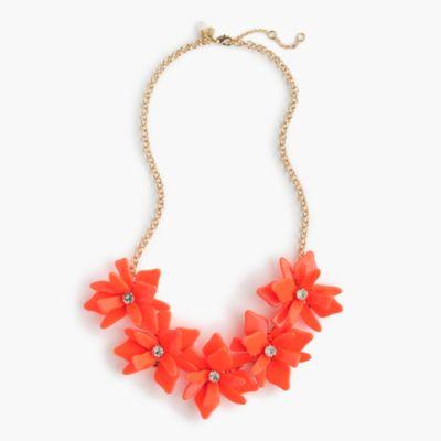 Girls' neon flower necklace