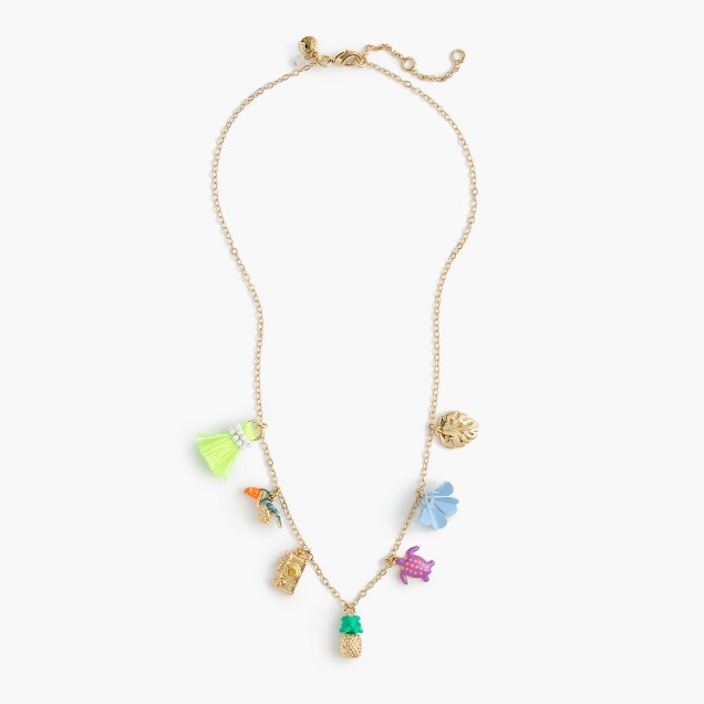 Girls' vacation charm necklace