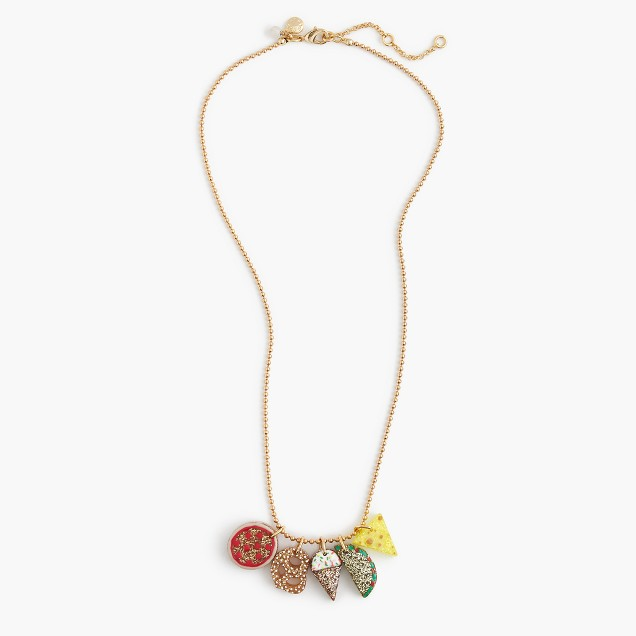 Girls' fun foods charm necklace