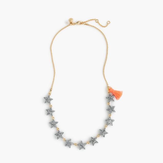 Girls' glitter star charm necklace