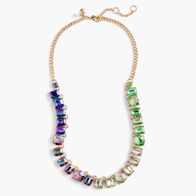 Girls' multicolor stone necklace