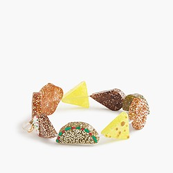 Girls' fun foods elastic bracelet