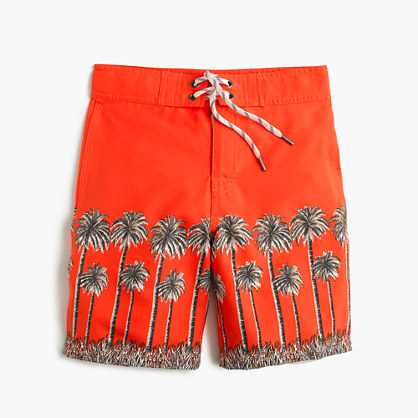 Boys' palm tree board short