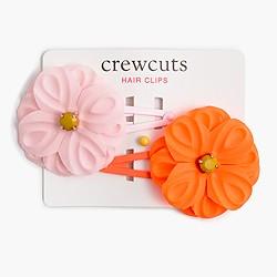 Girls' flower snap clips
