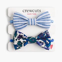 Girls' fabric bow hair ties