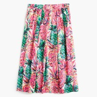 A-line skirt in Ratti® painted pineapple