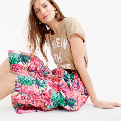 Tall A-line skirt in Ratti® painted pineapple