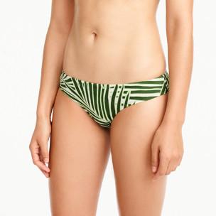 Surf hipster bikini bottom in palm leaf print