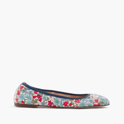 Lea ballet flats in Liberty® poppy and daisy floral