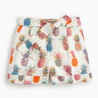 Tie-waist short in Ratti® painted pineapple
