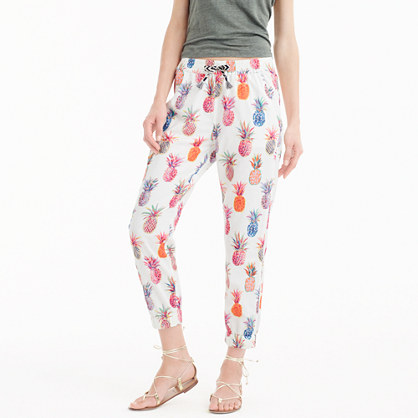 New seaside pant in Ratti® painted pineapples