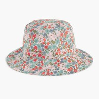 Bucket hat in Liberty® poppy and daisy floral